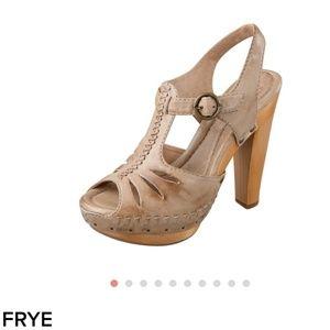 Frye Fran X stitch heeled clogs